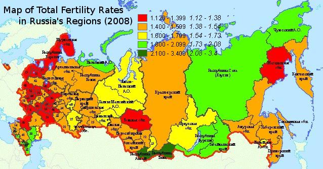 russiafertilitymap2008